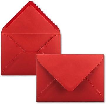 Gru/ßkarten 5,2 x 7,6 cm Rot Anh/änger /& Geld-Geschenke 100 Mini Brief-Umschl/äge FarbenFroh by GUSTAV NEUSER Miniatur Kuverts mit Nassklebung f/ür Blumen-Gr/ü/ße