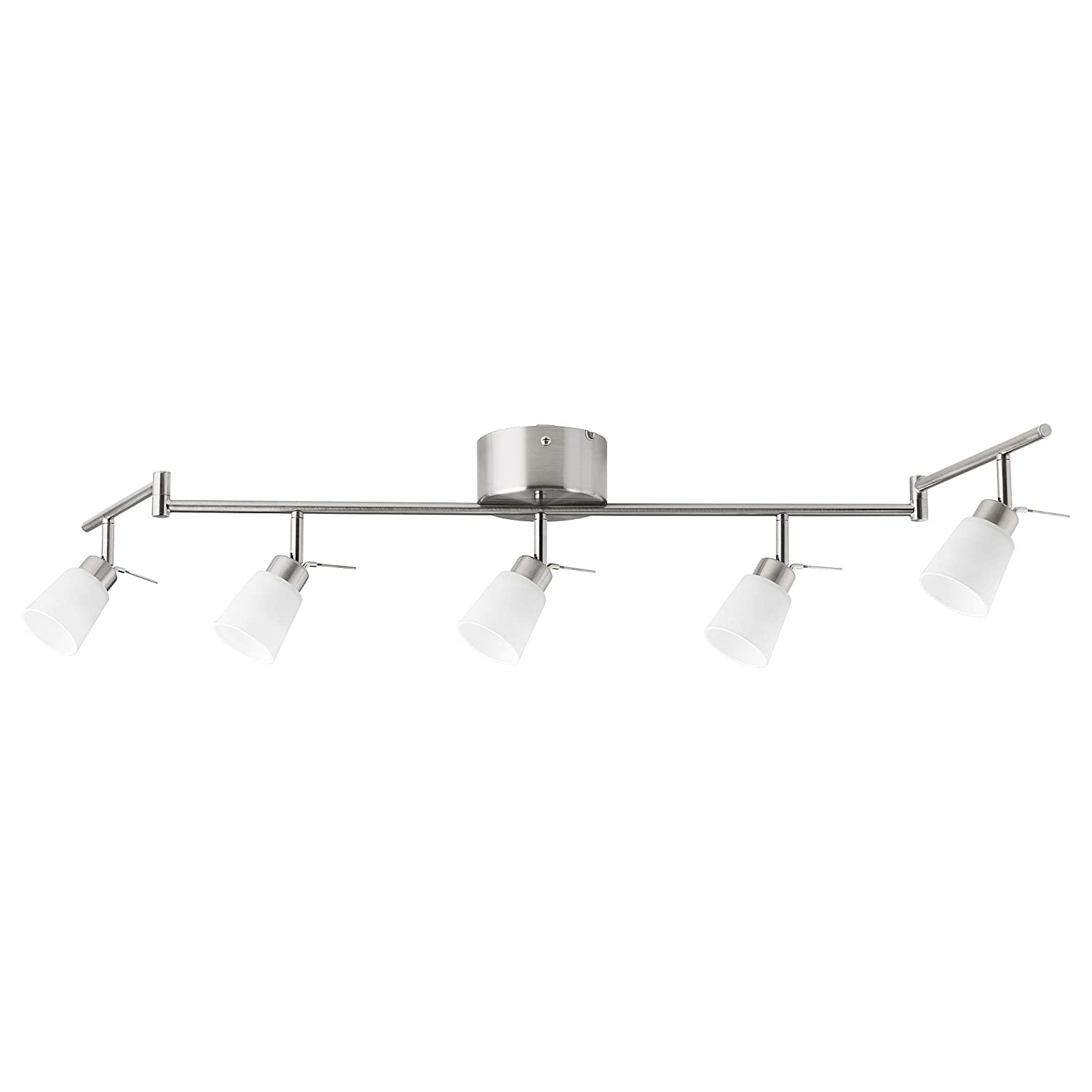 IKEA 002.626.57 Tidig Ceiling Light with 5 Spotlights Nickel Plated