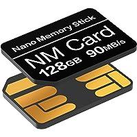 Tarjeta NM 128GB 90MB/S Tarjeta de Memoria Nano Tarjeta Nano Solamente Adecuado para Huawei P30/P30pro/Mate20 Series…