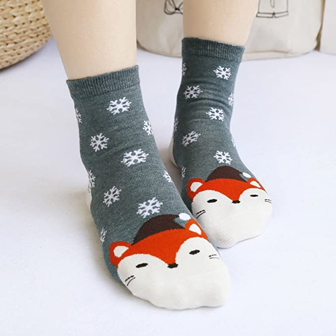 Sunnywill Navidad Mujeres Calcetines décontractées, Mignon, Unisex Calcetines Calcetines de Navidad: Amazon.es: Hogar