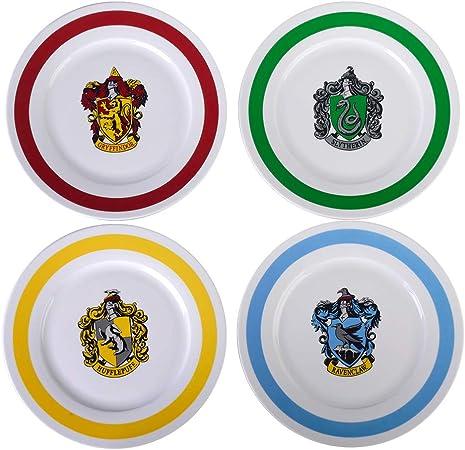 Plaques De Harry Potter 10 5 Assiettes Les 4 Maisons De