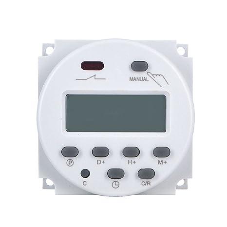 Interruptor de alimentación de CA LCD CN101A Temporizador digital programable Tiempo del relé de temporizadores al