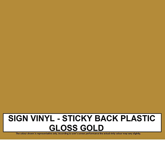 Cameo Craft Sticky 305mm x 1m 3-5 Year Self Adhesive Gloss Sign Vinyl Coloured