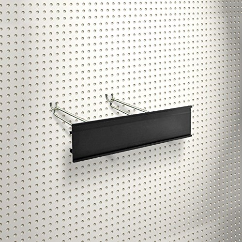 New Retails Black Extended Graphic Sign Holder Fits to Pegboard 4H x 11.75L