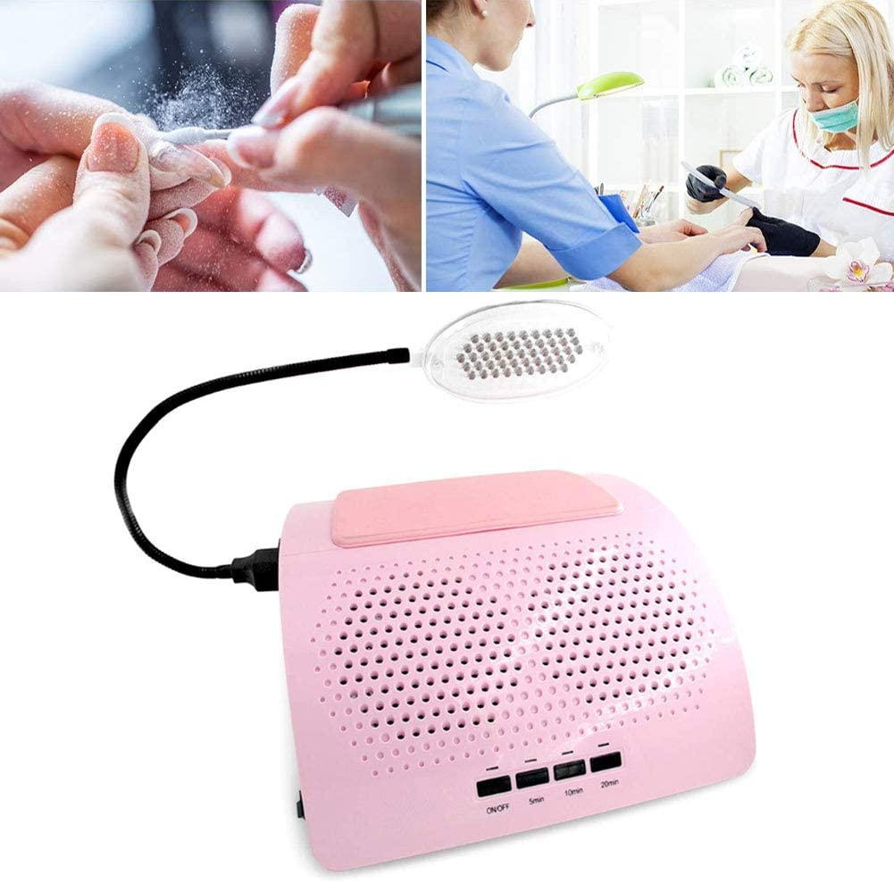 Amazon Com Nail Dust Collector Manicure Machine Two Fans With Light Powerful Vacuum Cleaner Tools With Led Desk Light Practical Art Salon Cleaning Equipment Fauay Sports Outdoors