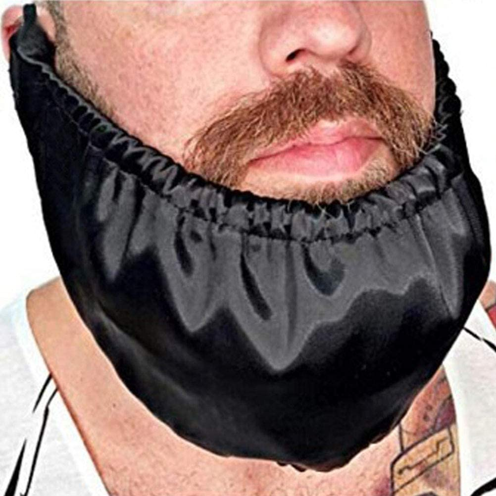 HEREB Couvre Barbe Barbe Bandana Couvre Barbe Facial Barbe Tablier Garde Barbe Casquettes Coucher Bib