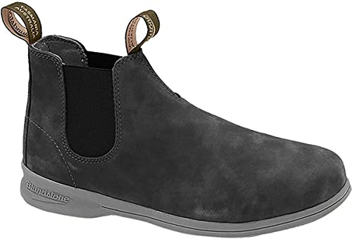 New BLUNDSTONE Mens ACTIVE SERIES Rustic Black Leather Pull On Ankle Boots 1398