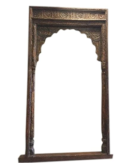 Amazon Com Mogul Interior Antique Arch Columns Haveli Entrance Gate