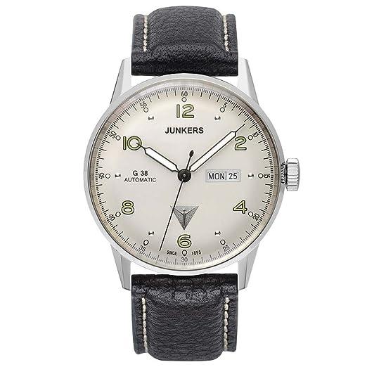 Junkers Reloj para Hombre con Correa de Cuero - 6966-4: Amazon.es: Relojes