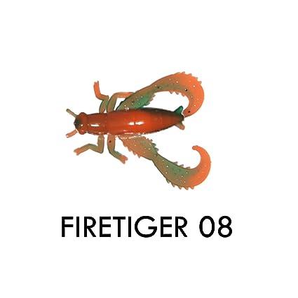 Big Bite Baits  Bug Series Cricket BSC-08-10 Firetiger Swirl 30ct