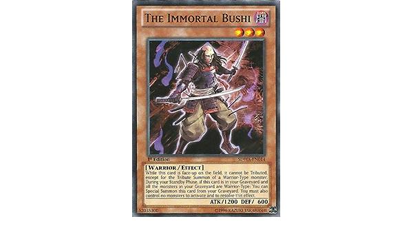1st Edition x3 Common The Immortal Bushi SDWA-EN014 Near Mint