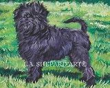 """An Affenpinscher dog art portrait print of an LA Shepard painting 8x10"""""""