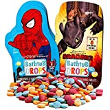 Color Bath Drops for Kids Super Set-- 80 Bath Tablets (10 Individually Wrapped Packs Featuring Spiderman and More!)
