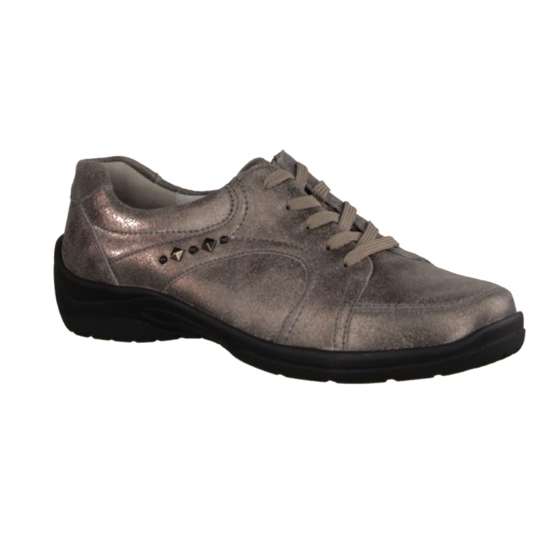 Waldläufer 312011-175-103 - Zapatos de cordones de Piel para mujer gris gris 37|peltro