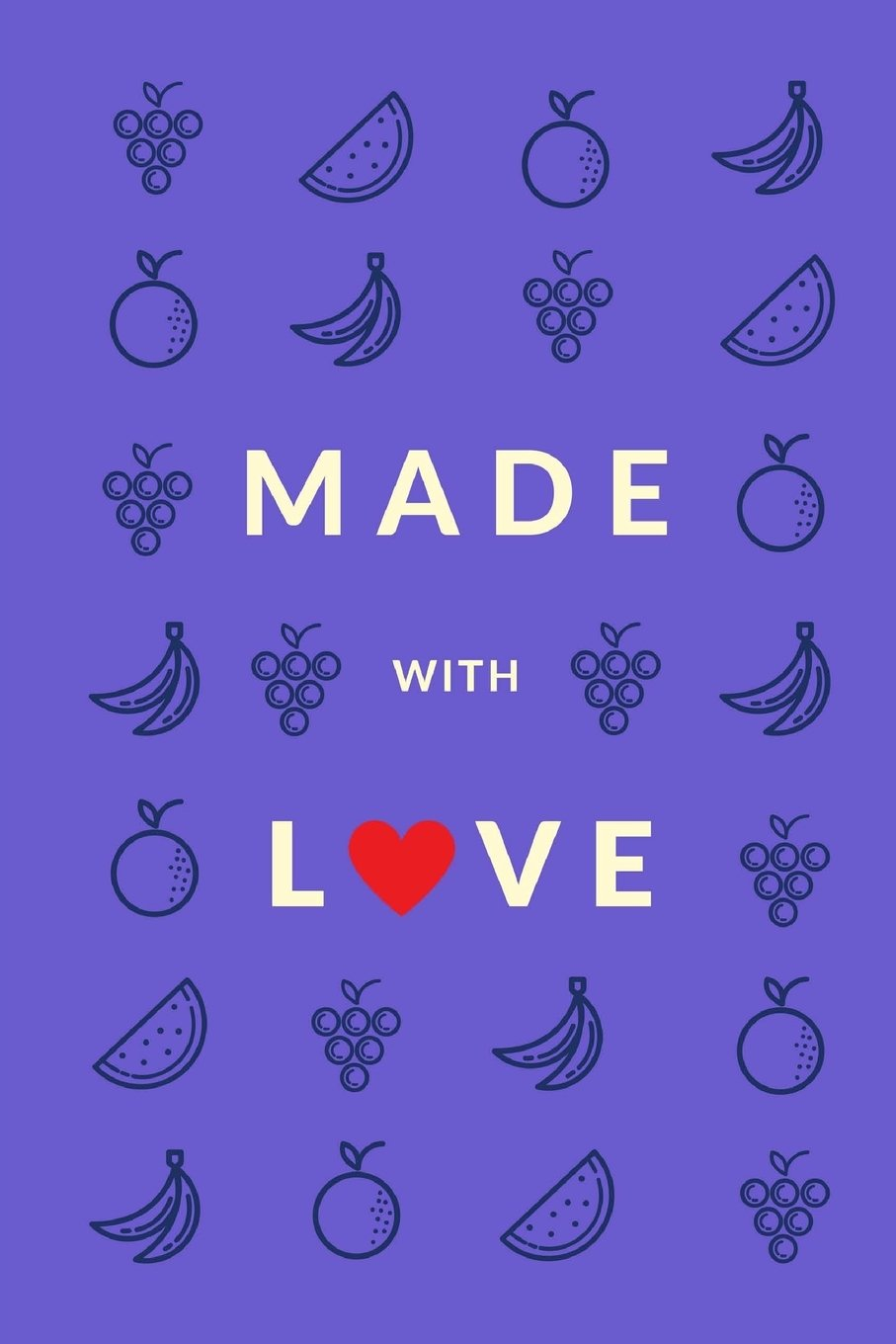 Read Online Made With Love (Blank Recipe Book): Violet, Premium Blank Cookbook, 150 Pages (Cooking Gifts) PDF