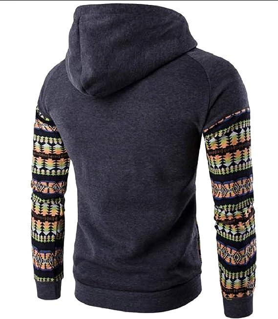 UUYUK Men Zip Front Sport Relaxed Fit Pockets Sweatshirt