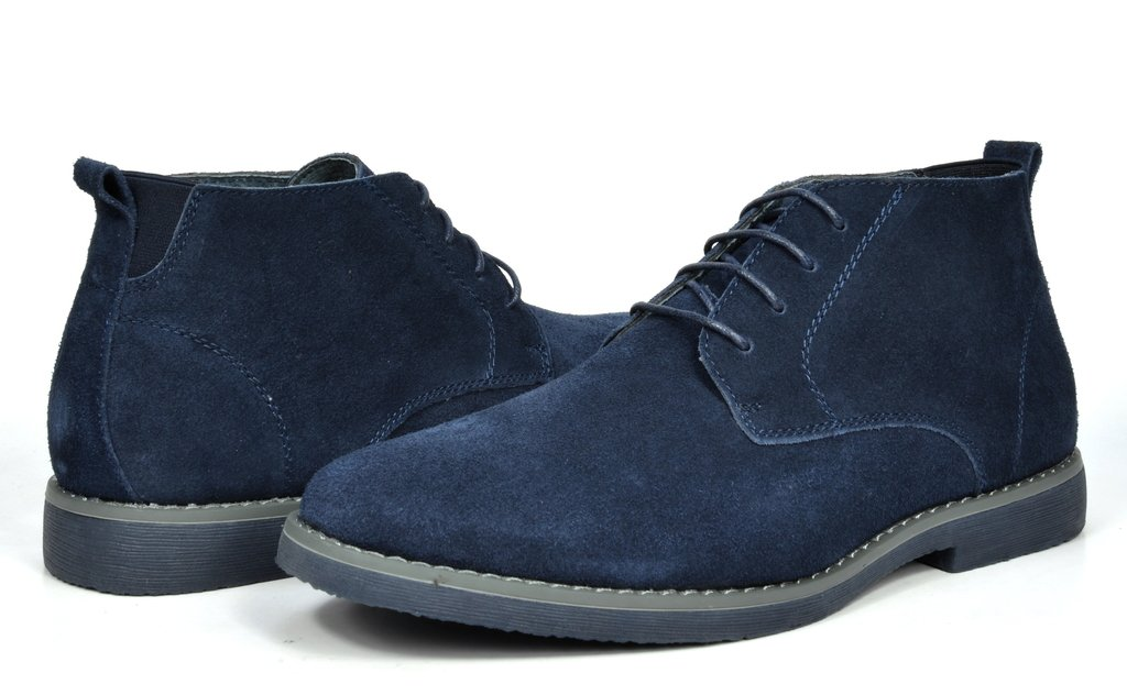 Bruno Marc Men's Chukka Navy Suede Leather Chukka Desert Oxford Ankle Boots - 10.5 M US