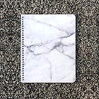 Cuaderno espiral mármol blanco interior líneas 200 pgs
