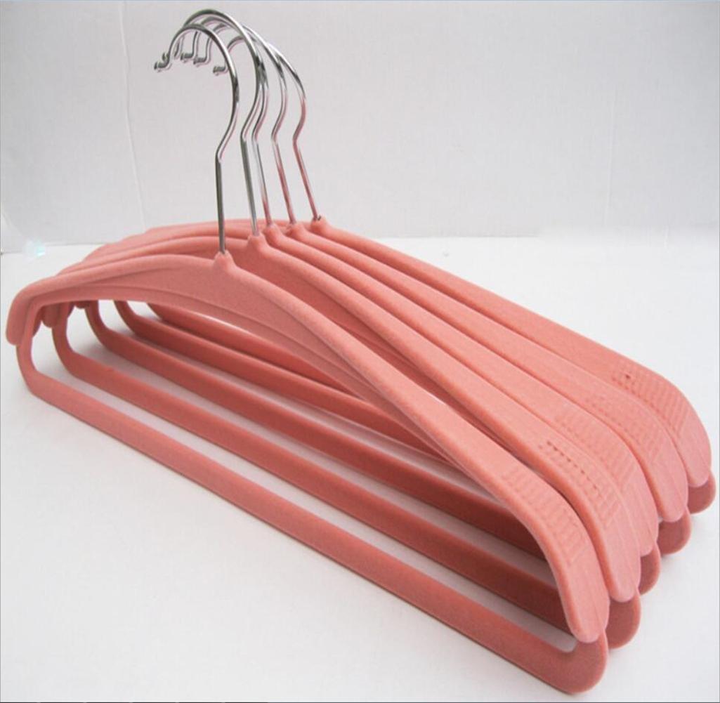 10 rose Samt Kleiderb/ügel gehobenen breiter Schulter rutschfest stabiler keine Spuren Erwachsene Kleiderb/ügel 42/cm
