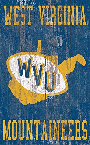 Fan Creations Distressed Logo 11x19 University of West Virginia Heritage Multi