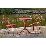 Outdoor Interiors Eucalyptus 3 Piece Square Bistro Outdoor Furniture Set Includes