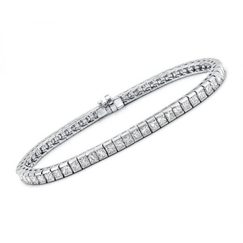 3.00 ct Ladies Princess Cut Diamond Tennis Bracelet In Channel Setting by Madina Jewelry (Image #2)
