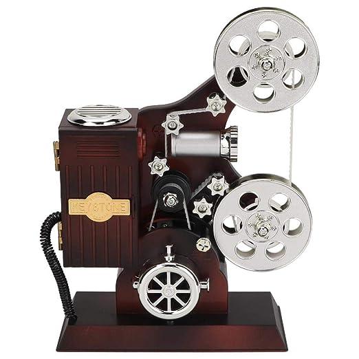 Wifehelper Cajas de música Vintage, Caja de música con proyector ...