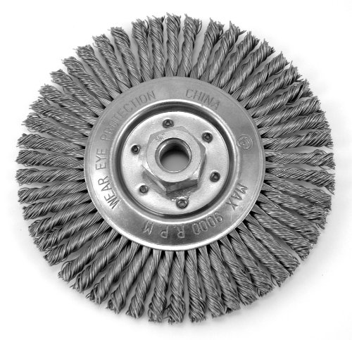 Hot Max 26085 6-Inch Stringer Bead Wire Wheel, 5/8-Inch-11NC Arbor