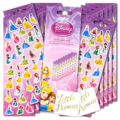 Disney Princess Stickers Party Favor Pack Plus Separately Li