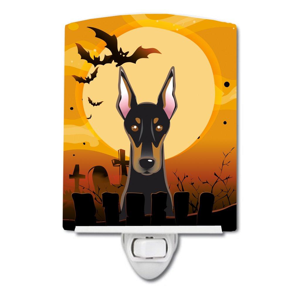 Carolines Treasures Halloween Doberman Ceramic Night Light 6x4 Multicolor