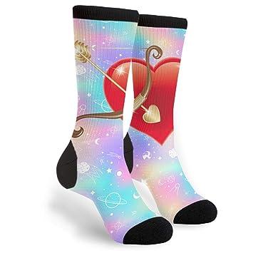 Amazoncom Lbbdz Arrow With Heart In Middle Mens Dress Crew Socks
