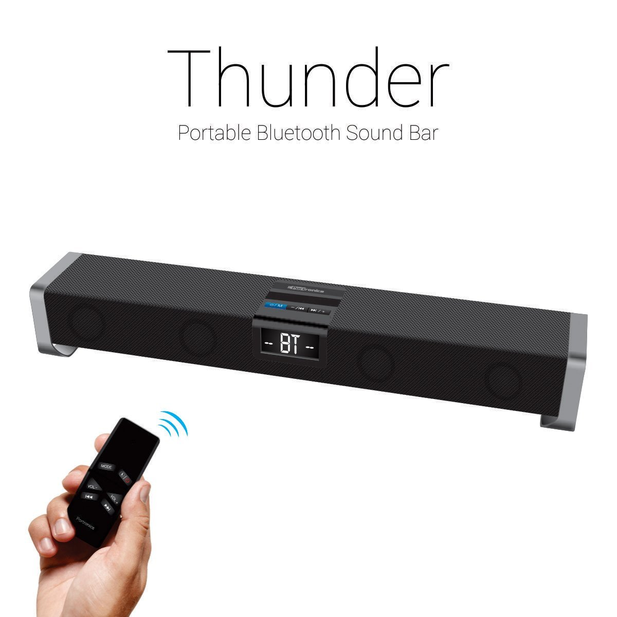 Portronics Thunder Portable Bluetooth Sound Bar Speaker ( Black)