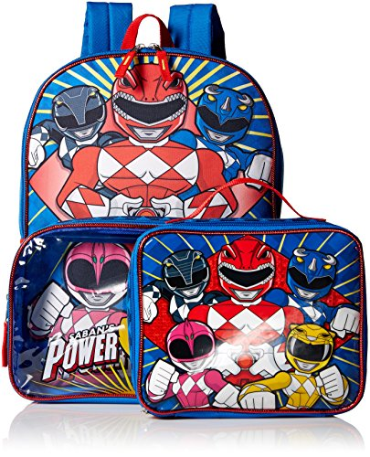 Power Rangers Power Rangers 15.5'' Backpack With Lunch In Clear Pocket Accessory
