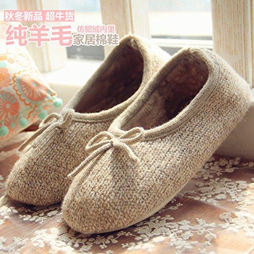 HH Ultra velours chaleureux convivial anti-vison laine confiné chaud Office chaussures chaussures chaussures chaussures femmes