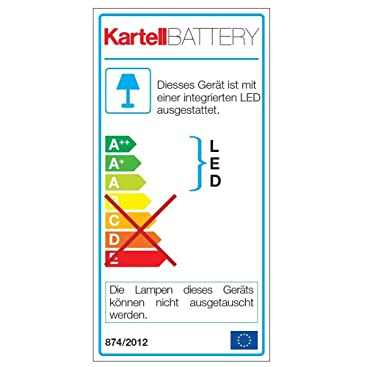Table Lamp Battery By Kartell Crystal Amazon Co Uk