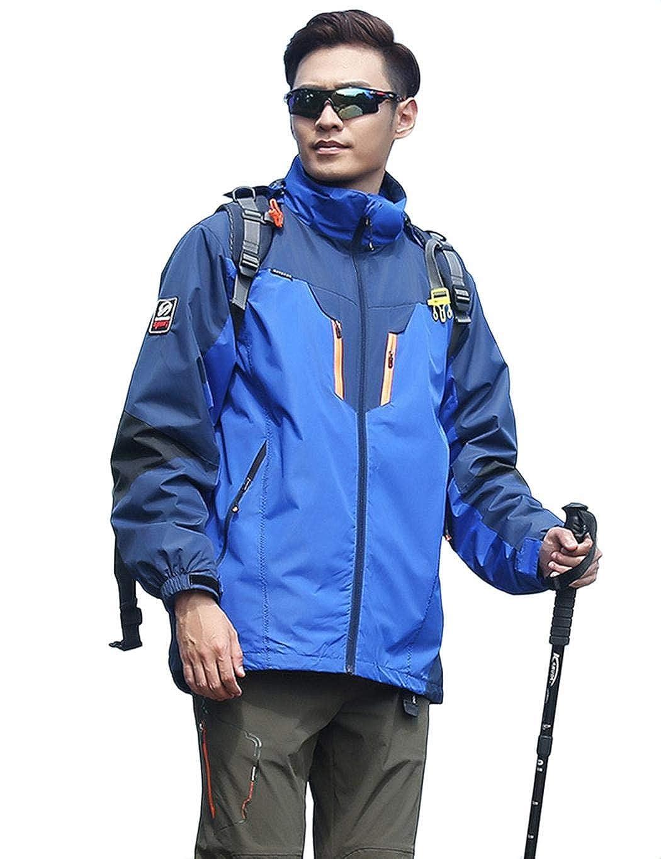 Bleu-homme XXL AI'MAGE Anorak Veste de Ski Homme A Capuche Femme Coupe-Vent Imperméable Manteau étanche Sport