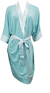 product image for PJ Harlow Shala Knit Robe with Pockets and Satin Trim