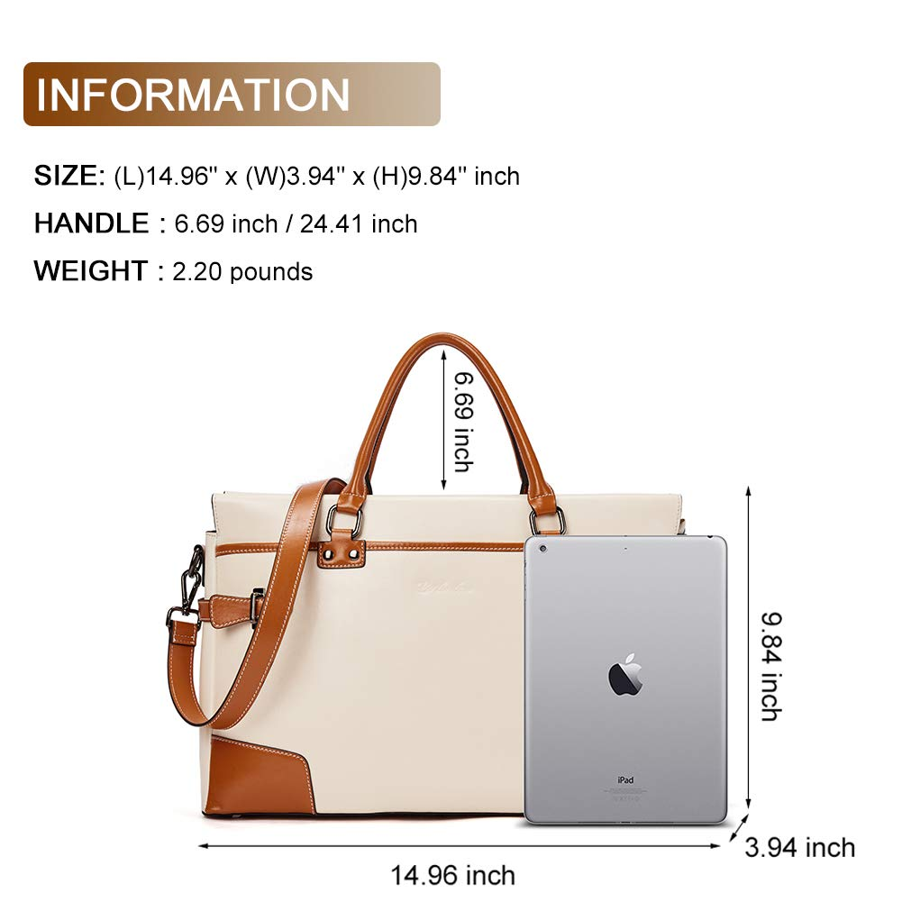 BOSTANTEN Leather Briefcase Messenger Satchel Bags Laptop Handbags for Women by BOSTANTEN (Image #3)