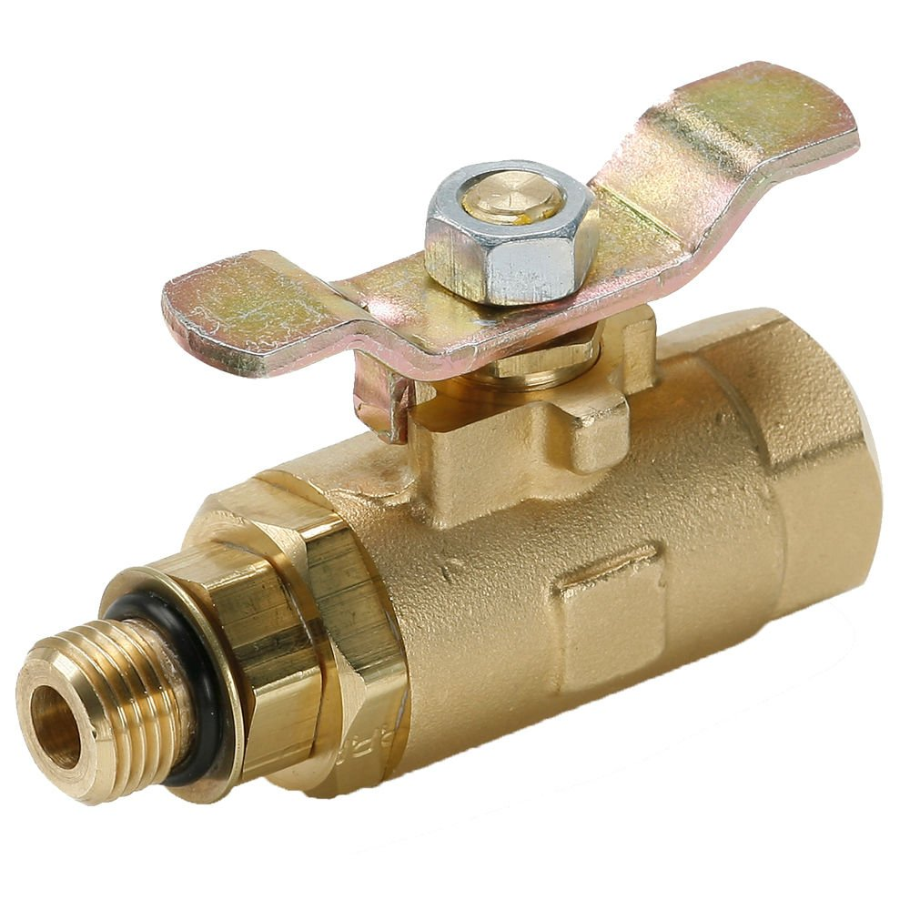 16 16 Steel Tee Handle Parker V510P-8-04-pk10 Industrial Brass Ball Valve Pack of 10 Female Straight Thread and Male Straight Thread in Line Brass Pack of 10