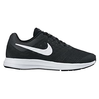 6e1290517e4 NIKE Boy s Downshifter 7 Wide (GS) Running Shoe Black White Anthracite Size
