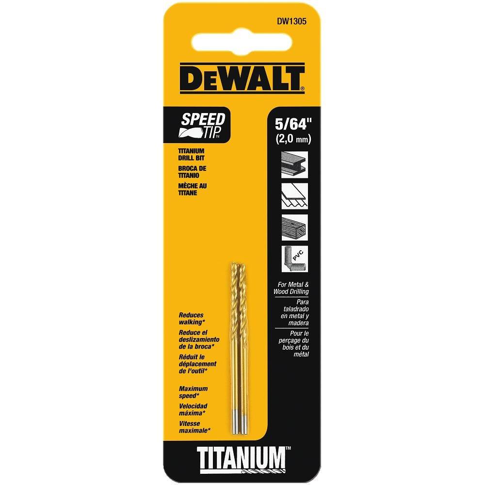 4mm diamond twist drill bit - Dewalt Dw1305 5 64 Inch Titanium Split Point Twist Drill Bit
