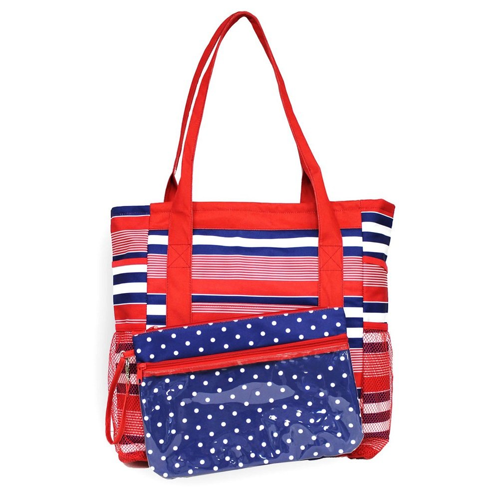 High Tide 3 in 1 Beach Tote with Lounge Cover /& Detachable Pouch
