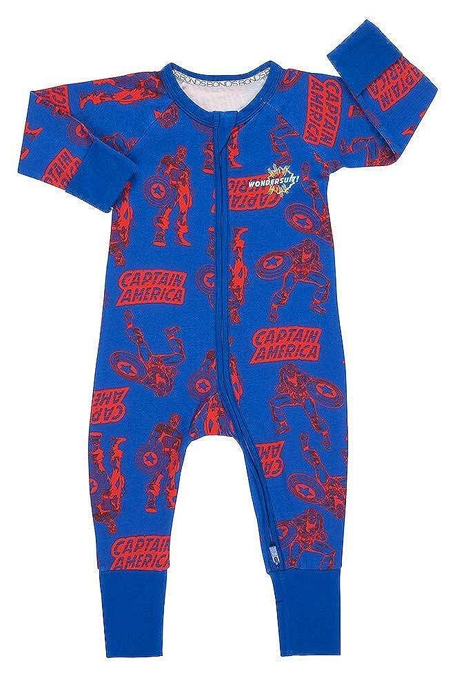 Bonds Marvel x Captain America Baby Wondersuit Limited Edition Blue 0-3 Months