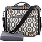 Lekebaby Diaper Bag Backpack with Changing Pad and Stroller Clips Unisex for Mom and Dad, Grey