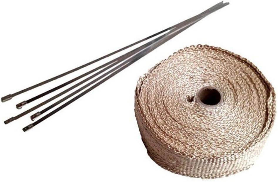 Twowinds 10 Klammern 20 Meter thermisches Auspuffband in beige
