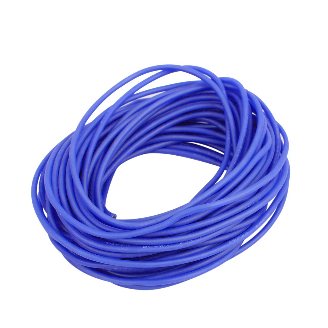 uxcell 30 AWG Stranded Wire Flexible Silicone Electrical Cable 1.6 Feet 0.5m 30 Gauge Copper Cord High Temperature Resistant Yellow for DIY RC Aircraft