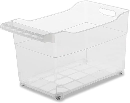 USE family -Cajas almacenaje plastico con ruedas -Organizador de armarios de cocina -Especial almacenaje productos de limpieza - Pack de 3 (XXL): Amazon.es: Hogar