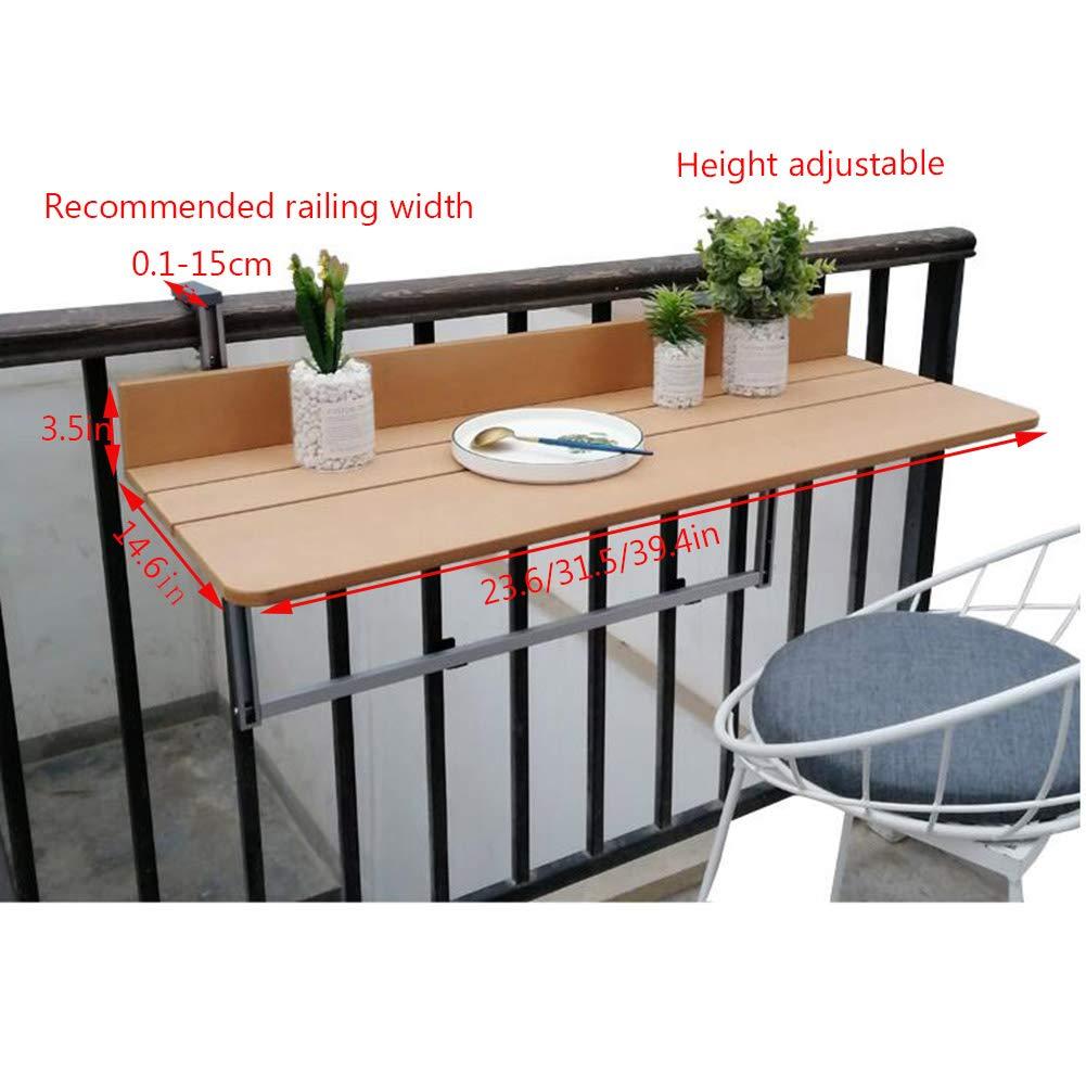 Tavolo Pieghevole di Sollevamento Protezione Solare Tavolino da caff/è con Balcone Antipioggia Folding table Tavolo Sospeso per Ringhiere per Balconi Home Bar Piccolo Scrivania da Computer