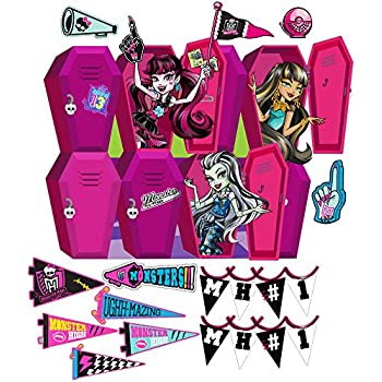 Monster High Large Locker Wall Decal Set 3  sc 1 st  Amazon.com & Amazon.com: Roommates Rmk2190Scs Monster High Peel And Stick Wall ...