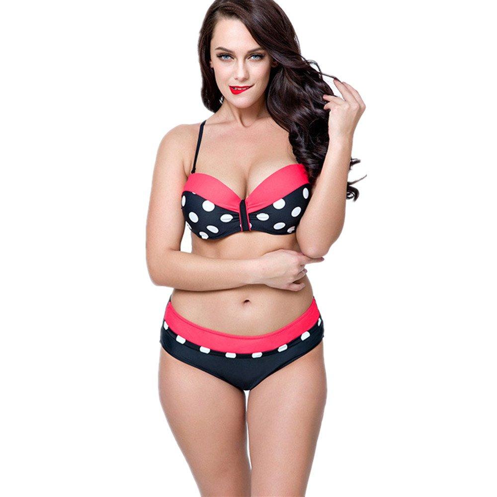 Ms. 水着 スポーツ水着 ビキニ水着 水着 スリーポイント水着 に適して 水泳 ウェディング エクササイズ スパ (Color : Red, Size : 48) B07DYSYR2Y 48|Red